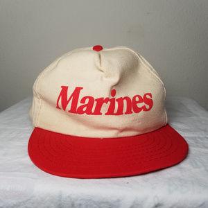 Vintage 80's USMC Marines Snapback Baseball Cap OS